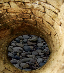 rocks in well